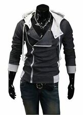 New Assassins Creed Inspired Black Charcoal Hoodie Jacket Costume USA Seller