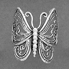 Size 5~9- FILIGREE BUTTERFLY Sterling Silver Ring-Highly Polished-Oxidized