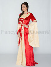 Maid Marion Medieval Renaissance Gown Game of Thrones Dress Costume UK Size 8-18