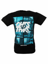 SALE £7 // Cheats & Thieves NYC Mens Cotton T-Shirt Tee Top in Black / SALE /