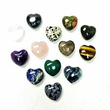 Puff Heart Healing Worry Stone 30mm Gemstone Zentron™ Crystals