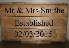 Personalized vintage style apple storage crate,solid wood,rustic Free stencils