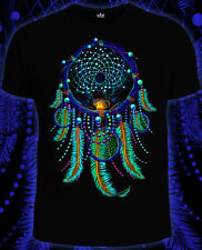 Dreamcatcher psychedelic festival t-shirt Glow under UV psy party wear clothes
