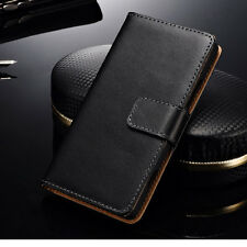 For Nokia Lumia 820 Real Genuine Leather Case Flip Stand Wallet Cover Card Pouch