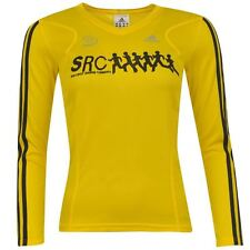 adidas Womens Ladies Src Sports Running Long Sleeved Top V Neck New