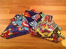 Marvel handmade Dog Bandana - neckerchief - Retro comic, Spiderman, Superman
