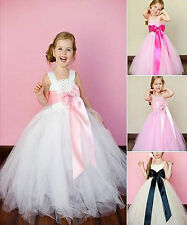 Girls-Bridesmaid Princess-Pageant-Prom-Flower girl dress 1-12 years Pink dress