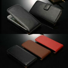 For iPhone 4 4S NEW Luxury Glossy GENUUINE Leather Megnetic Flip Wallet Case