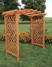 Red Cedar Jamesport Arbor 9 Stains Options 4 ft 5 ft 6 ft Amish Made in USA