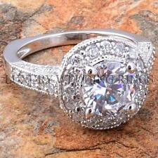 2.75Ct Round Cut Sterling Silver Engagement Ring Women Wedding Jewelry Size 5-10