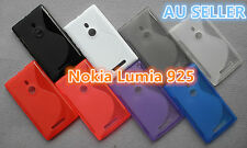 Nokia Lumia 925 S Curve Slim Soft Silicone Matte Rubber Gel Back Cover Case