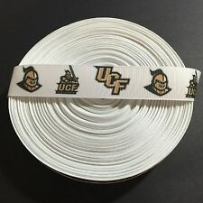 """7/8"""" UCF Central Florida Knights Grosgrain Ribbon by the Yard (USA SELLER!)"""
