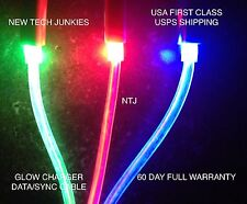 NTJ GLOW CHARGER CABLE led light-up data sync for iPhone 5 6 plus 4 4s micro usb