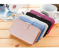 For Samsung Galaxy Phone Luxuly Slim Wallet Silk Leather Stand Flip case cover