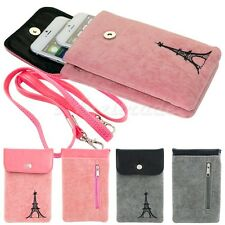 Soft Universal Phone Bag Pouch Sleeve Card Case For iPhone 6 Plus/+ 6 5S Samsung