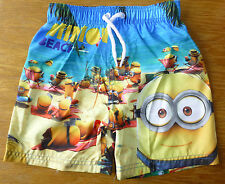 BNWT UNIVERSAL STUDIOS DESPICABLE ME MINIONS BEACH SWIM SHORTS 2-3-4-5-6-7 YRS ♥