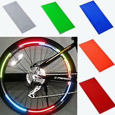 8 Strips Bicycle Cycling Motorcycle Tape Wheel Rim Reflective Glitter Stickers