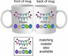 PERSONALISED EASTER MUG/COASTER, IDEAL PRESENT GIFT CHILDREN PARENTS FRIENDS ETC
