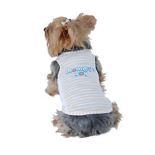 Stripe Mommys Boy Tank Shirt Cotton T-Shirt For Dogs Puppies Cat Animal Clothes