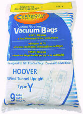 HOOVER VACUUM BAGS Type Y Replacement: 9 pk Hoover WindTunnel Upright Vacuum Bag