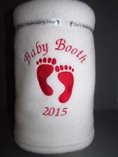 PERSONALISED BABY BLANKET BABY SHOWER GIFT EMBROIDERED NAME IDEAL PRESENT