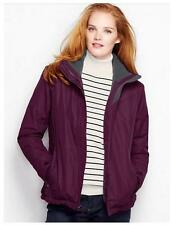 Womens LANDS END Hooded SQUALL Coat Jacket  Size 6/8 10/12  NWT Smokey Plum