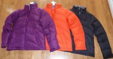 Womens LANDS END Down Jacket Coat Size XS 2/4  NWT Plum Orange Black Wine Grape