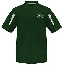New York Jets Moist Management Synthetic Mens Polo Shirt Green Big & Tall Sizes