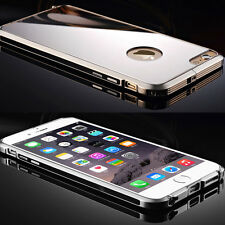 Ultra Thin Aluminum Metal Bumper Frame Mirror Hard Back Case Cover For iPhone 6