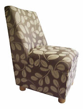 Curved Back Bedroom Chair in Orchard Leaf Chenille Fabric
