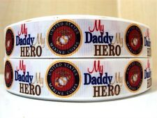 """7/8""""  My Daddy My Hero US Military Marine Corps Ribbon  - COMBINED SHIPPING"""