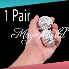 Selling 1 Pair Magnetic Hand Palm Acupuncture Ball Needle Massage Practical UK