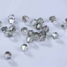 New 100/1000pcs Fashion DIY jewelry 3mm/4mm Glass Crystal #5301 Bicone Beads