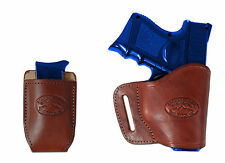 New Barsony Burgundy Leather Yaqui Holster + Mag Pouch Springfield Compact 9mm