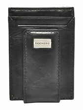 New Dockers Mens Leather Magnetic Money clip and Front Pocket Card Case Wallet
