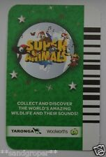 WOOLWORTHS GREEN CHRISTMAS EDITION SUPER ANIMALS SOUND TRADING CARDS FREE POST!