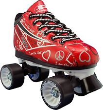 NEW! Pacer Heart Throb RED quad roller skates normally $95 sz 1-10