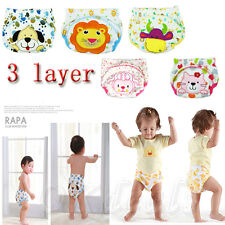 Toilet Pee Potty Training Pants Cloth Diaper Underwear For Baby Boy Girl USTOP