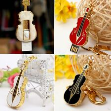 Crystal Violin 4GB-32GB USB 2.0 Flash Drive Memory Stick Charming U-Disk Gifts