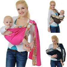 Cotton Adjustable Infant Newborn Baby Ring Sling Carrier Backpack Wrap Pouch
