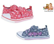 Canvas girls shoes / trainers in 2 colours! Size UK 8 - 12 NEW - Real leather