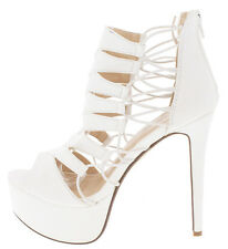 NEW Sexy Strappy Open Toe Stiletto Stripper Shoes High Heels Platform Pumps Size