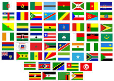 African Country Flags CAR ART STICKERS 90mm x 65mm *** Buy 2 get 1 FREE