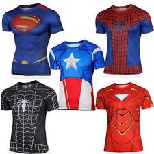 Mens T Shirt Action Figures The Avengers Marvel DC Comics Super Heroes