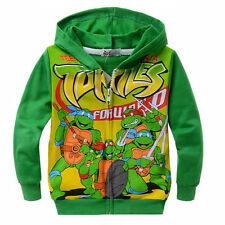 Teenage Mutant Ninja Turtles Boy Hoodis Coat Clothing Trouser Green 2-8 Years