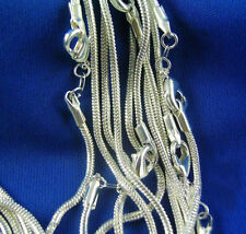 Bulk Wholesale Lots 5pcs Silver Plated Snake Chain Necklace for Women 16-30""