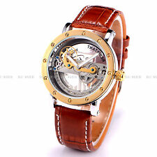 Luxury Skeleton Analogue Automatic Mechanical Mens Boys Easy to Read Watch 9541