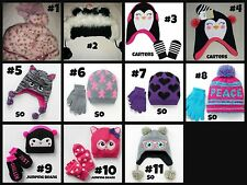 * NWT NEW GIRLS WINTER HAT - GLOVES - MITTENS SET multi Sizes