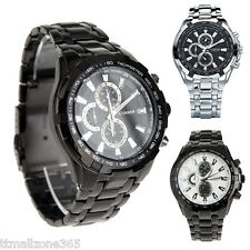 NEW 3 Color Stainless Steel Military CURREN Mens Sport Quartz Army Wrist Watch