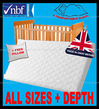 Cot Travel Cot Junior Bed Cot Bed Fully Breathable Nursery Foam Mattress Quilted